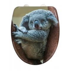 Wenko WC-Sitz Koala, Toilettensitz mit Absenkautomatik, Schnellbefestigung, aus antibakteriellem, stabilem Duroplast
