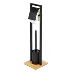 Wenko WC-Bürstenhalter Bambusa, Stand WC-Garnitur aus Bambus