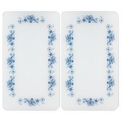 Wenko Herdabdeckplatte Universal Blaue Rankblüten, 2er Set, für alle Herdarten