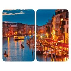 Herdabdeckplatte Universal Venice by Night, 2er Set, für alle Herdarten