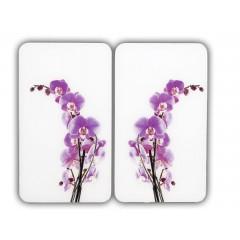 Wenko Herdabdeckplatte Universal Orchideenblüte, 2er Set, für alle Herdarten