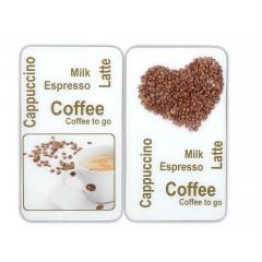 Wenko Herdabdeckplatte Universal Kaffeegenuss, 2er Set, für alle Herdarten