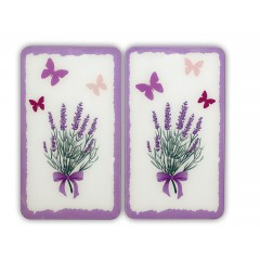 Wenko Herdabdeckplatte Universal Lavendel-Bouquet, 2er Set, für alle Herdarten