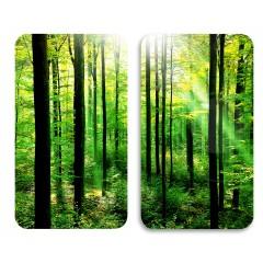Herdabdeckplatte Universal Wald, 2er Set, für alle Herdarten