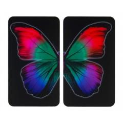 Wenko Herdabdeckplatte Universal Butterfly by Night, 2er Set, für alle Herdarten