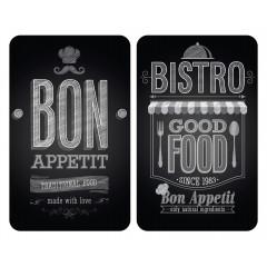 Wenko Herdabdeckplatte Universal Bon Appetit, 2er Set, für alle Herdarten