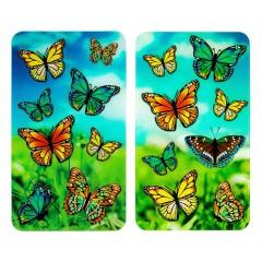Wenko Herdabdeckplatten Universal Schmetterlinge, 2er Set, für alle Herdarten