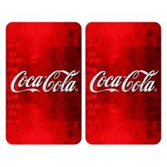 Glasabdeckplatten Universal Coca-Cola Classic, 2er Set, für alle Herdarten