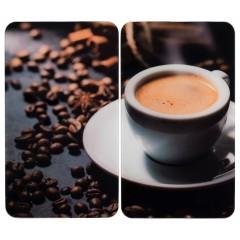Wenko Herdabdeckplatte Universal Espresso-Tasse, 2er Set, für alle Herdarten