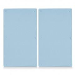 Zeller Herdabdeck-/Schneideplatten-Set, 2-tlg, Glas, transparent, 30 x 52 cm
