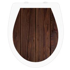 WC-Sitz Aufkleber Holz Wenge Rustikal