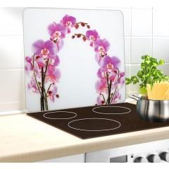 Wenko Multi-Platte Orchideenblüte, für Glaskeramik Kochfelder, Schneidbrett