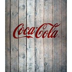 Glasrückwand Coca-Cola Wood, 60 x 70 cm