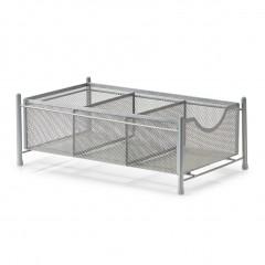 Zeller Universal-Organizer, Mesh, silber, Metall, 24,5 x 39,5 x 14,5 cm