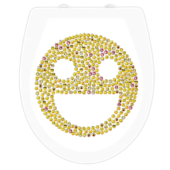 WC-Sitz Aufkleber Smiley