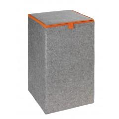 Wäschesammler Filz Uno Orange, Wäschekorb, 55 l