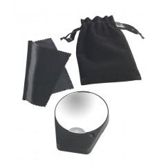 Wenko Taschen-Vergrößerungsspiegel mit LED, 10-fache Vergrößerung, mit Saugnapfhalterung