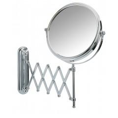 Wenko Kosmetikspiegel Deluxe Teleskop, Wandspiegel, 5-fach Vergrößerung