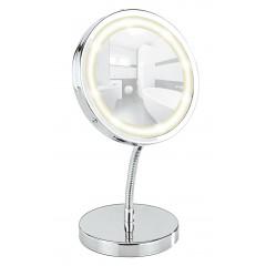 LED Kosmetikspiegel Brolo, Standspiegel, 3-fach Vergrößerung