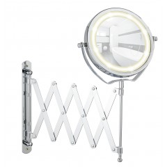 LED Kosmetikspiegel Brolo, Wandspiegel, 3-fach Vergrößerung