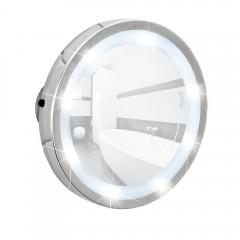 LED Leuchtspiegel Mosso, mit 3 Saugnäpfen, 3-fach Vergrößerung