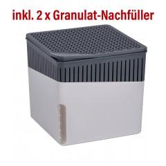 Wenko Raumentfeuchter Cube 500 g grau mit Gratis-Nachfüller