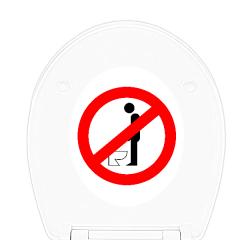 WC-Sitz Aufkleber Bitte nicht im stehen Pinkeln!