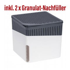 Wenko Raumentfeuchter Cube 500 g weiß mit Gratis-Nachfüller