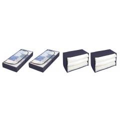 Aufbewahrungs-Set Comfort, 2x Unterbettkommode & 2x Jumbobox