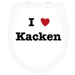 WC-Sitz Aufkleber I love Kacken
