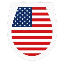 WC-Sitz Aufkleber USA