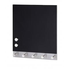 Magnetische Garderobe Black, 5 Haken, 30 x 34 cm