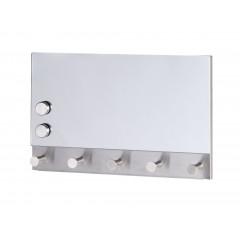 Magnetische Garderobe Mirror, 5 Haken, 30 x 19 cm
