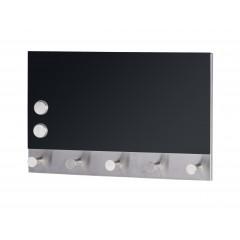 Magnetische Garderobe Black, 5 Haken, 30 x 19 cm