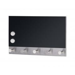 Wenko Magnetische Garderobe Black, 5 Haken, 30 x 19 cm