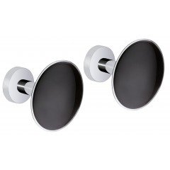 Design Wandhaken Black, 2er Set