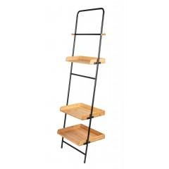Wenko Standregal Loft, Wohnregal, Badezimmerregal aus Bambus