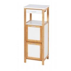 Wenko Regal Finja mit 2 Ablagen, 2 Fächern und Schublade, Bambus