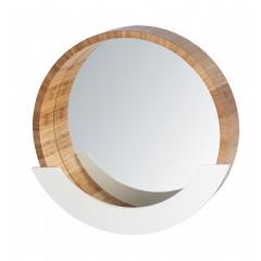 Wenko Wandspiegel Finja mit Ablage, Bambus