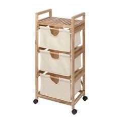 Wenko Wäschewagen Acina 3 Schubladen, Haushaltswagen, Rollwagen FSC® zertifiziert