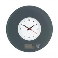 Küchenwaage Time mit Uhr Grau