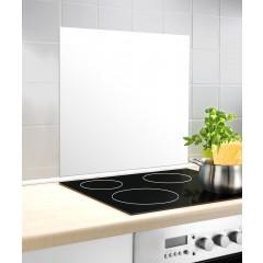 Glasrückwand Weiß, 60 x 70 cm