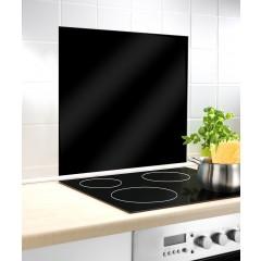 Glasrückwand Schwarz, 60 x 70 cm