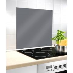 Glasrückwand Grau, 60 x 70 cm