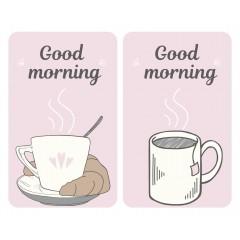 Herdabdeckplatten Universal Good Morning, 2er Set, für alle Herdarten