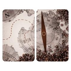 Wenko Herdabdeckplatten Universal Kompass 2er Set, für alle Herdarten