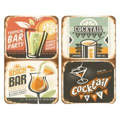 Wenko Herdabdeckplatte Universal Cocktail, 2er Set, für alle Herdarten