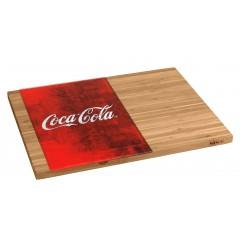 Wenko Schneidebrett Coca-Cola Classic, aus Bambus mit Glaseinsatz
