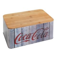 Wenko Brotkasten Coca-Cola Wood, aus Bambus