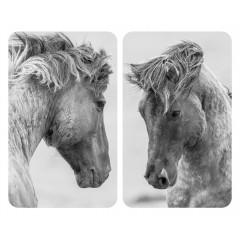 Wenko Herdabdeckplatte Universal Horses, 2er Set, für alle Herdarten